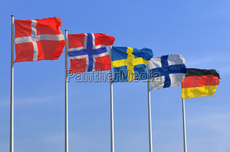 blue europe sweden denmark norway muticultural
