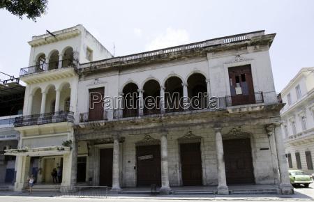 old residential building in havana cuba