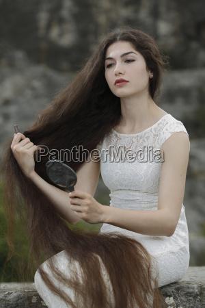 woman beautiful beauteously nice brown brownish
