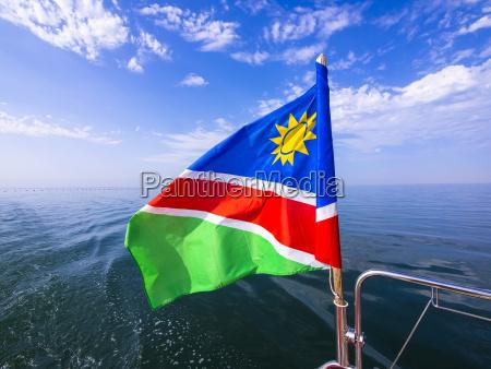 blue closeup horizon africa namibia flag