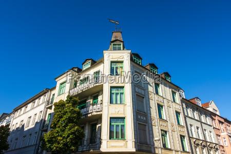 buildings in the hanseatic town of