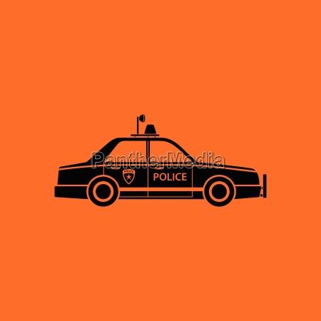 police, car, icon - 25383360