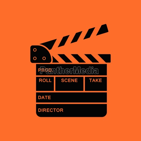 clapperboard, icon - 25384750