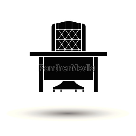 table and armchair icon