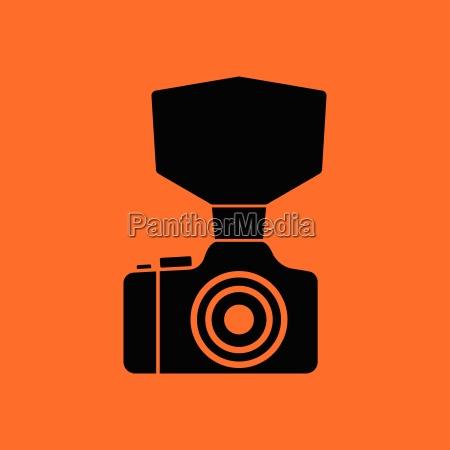 camera with fashion flash icon