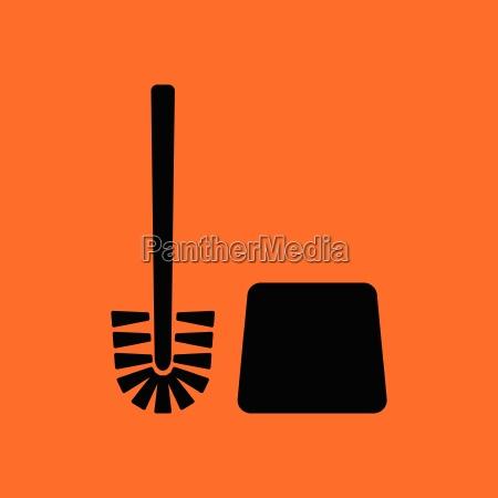 toilet, brush, icon - 25388480