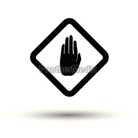 icon of warning hand