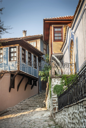 traditional houses in old town of