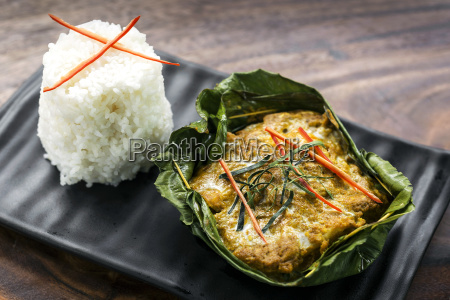 traditional cambodian khmer fish amok