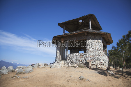 stone outpost above upper yangtze river