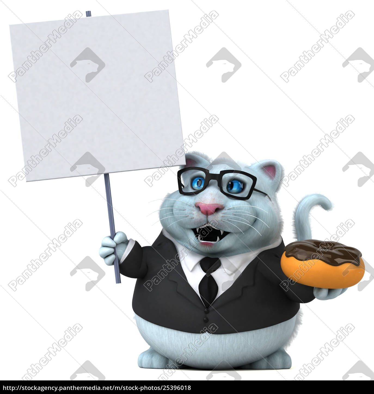 fun, cat, -, 3d, illustration - 25396018