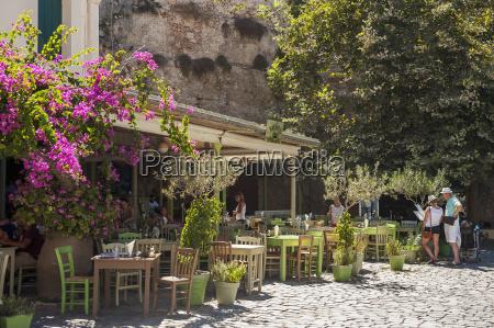 restaurant patio chania crete greece