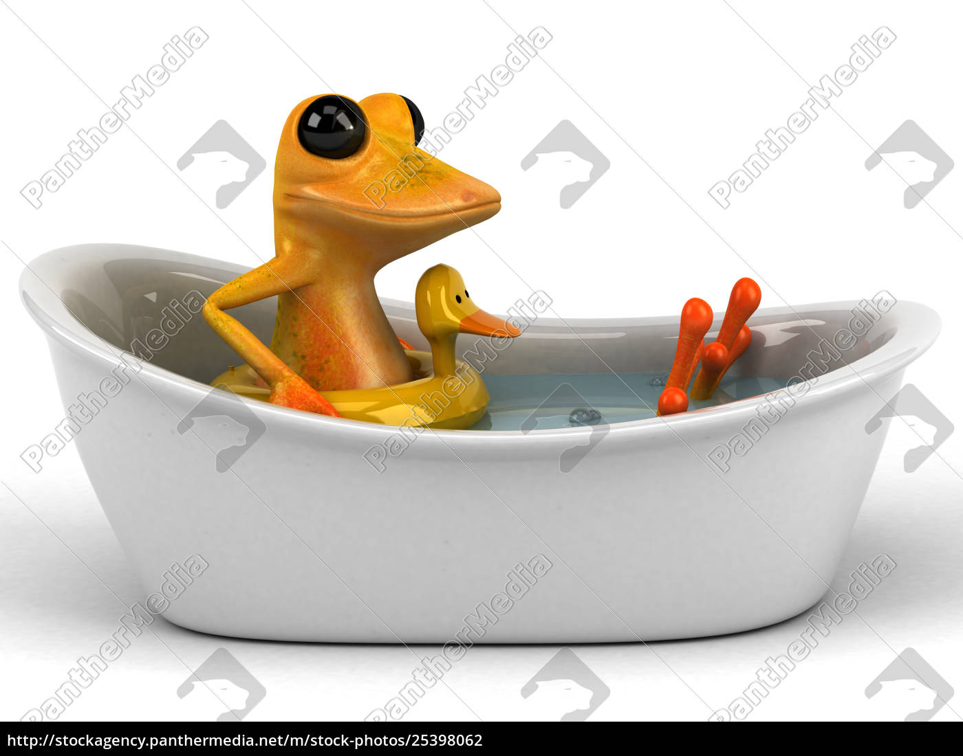 fun, frog, -, 3d, illustration - 25398062