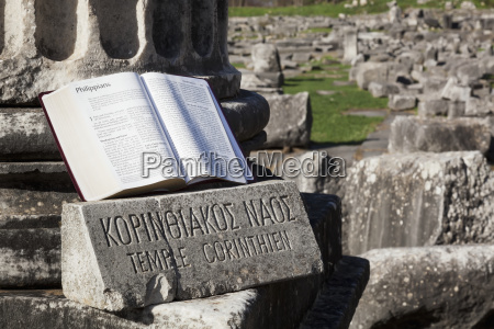 bible open on display at temple