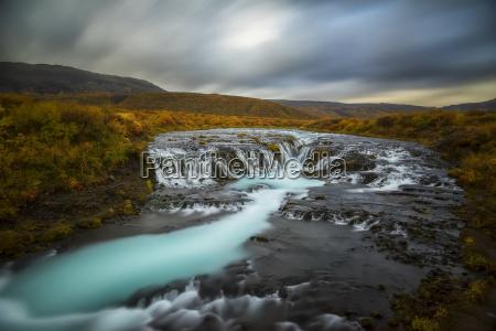 long exposure of water flowing over