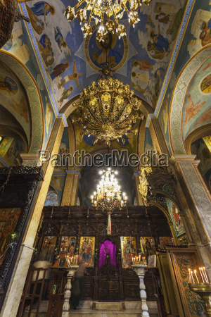 colourful and ornate interior of st