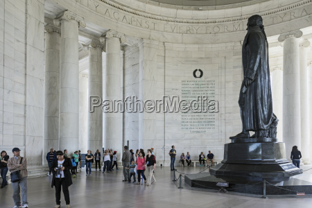 thomas jefferson memorial built on the