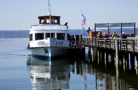 people on a dock with a