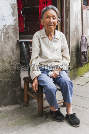 portrait of a senior woman sitting