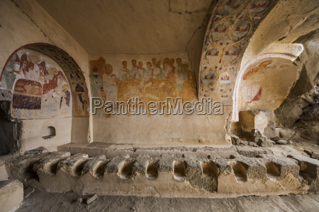 medieval frescoes in the refectory of