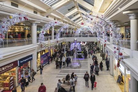 shopping mall at christmas gateshead tyne