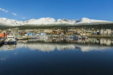ushuaia an argentina port and snow