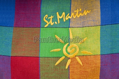 close up of multi colored bag