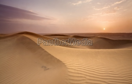 wahiba sands at sunset wahiba oman