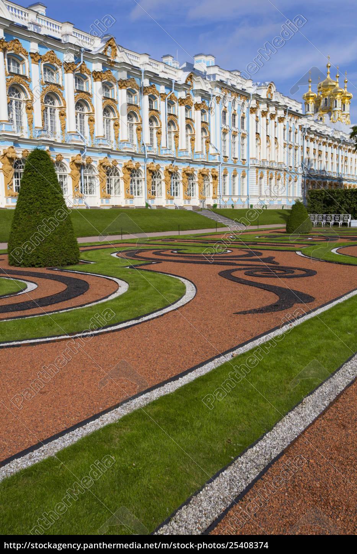 catherine, palace, , south, side;, tsarskoye, selo, - 25408374
