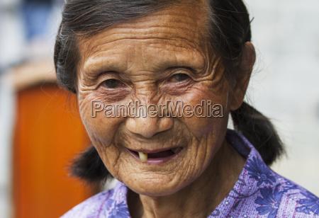old chinese woman xidi anhui china