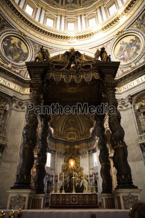 interior of st peters church vatican