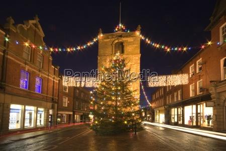 old town at christmas night morpeth