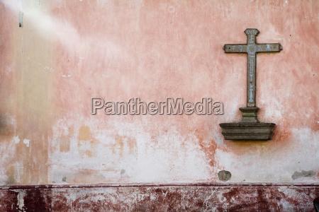 cross on wall antigua guatemala