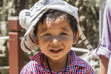 portrait of a young cambodian boy