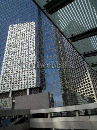 modern urban office buildings hong kong