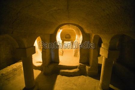 church in ancient underground city nevsehir