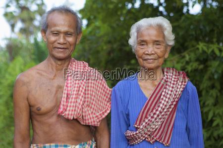 couple married sixty years battambang camdodia