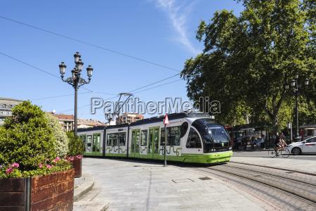 tranvia an electric train on tracks