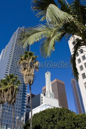 low angle view of skyscrapers from