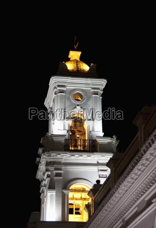 bell tower of iglesia de el