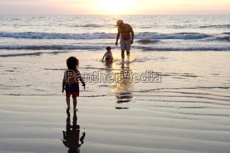 puerto vallarta mexico father on beach