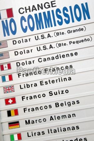signo de cambio de divisa