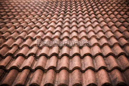 detail of brick tile roof