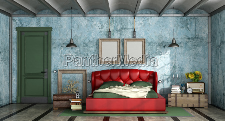 colorful, bedroom, in, retro, style - 25416506