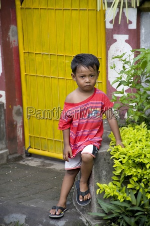 young boy outdoors in indonesia