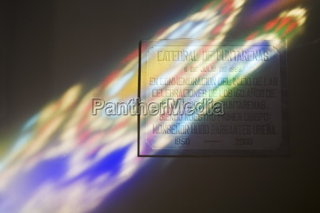 multi colored stained glass light effect