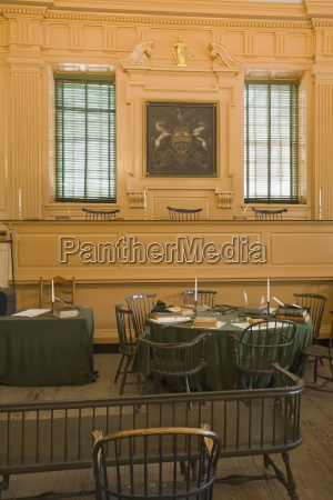 assembly room in independence hall philadelphia