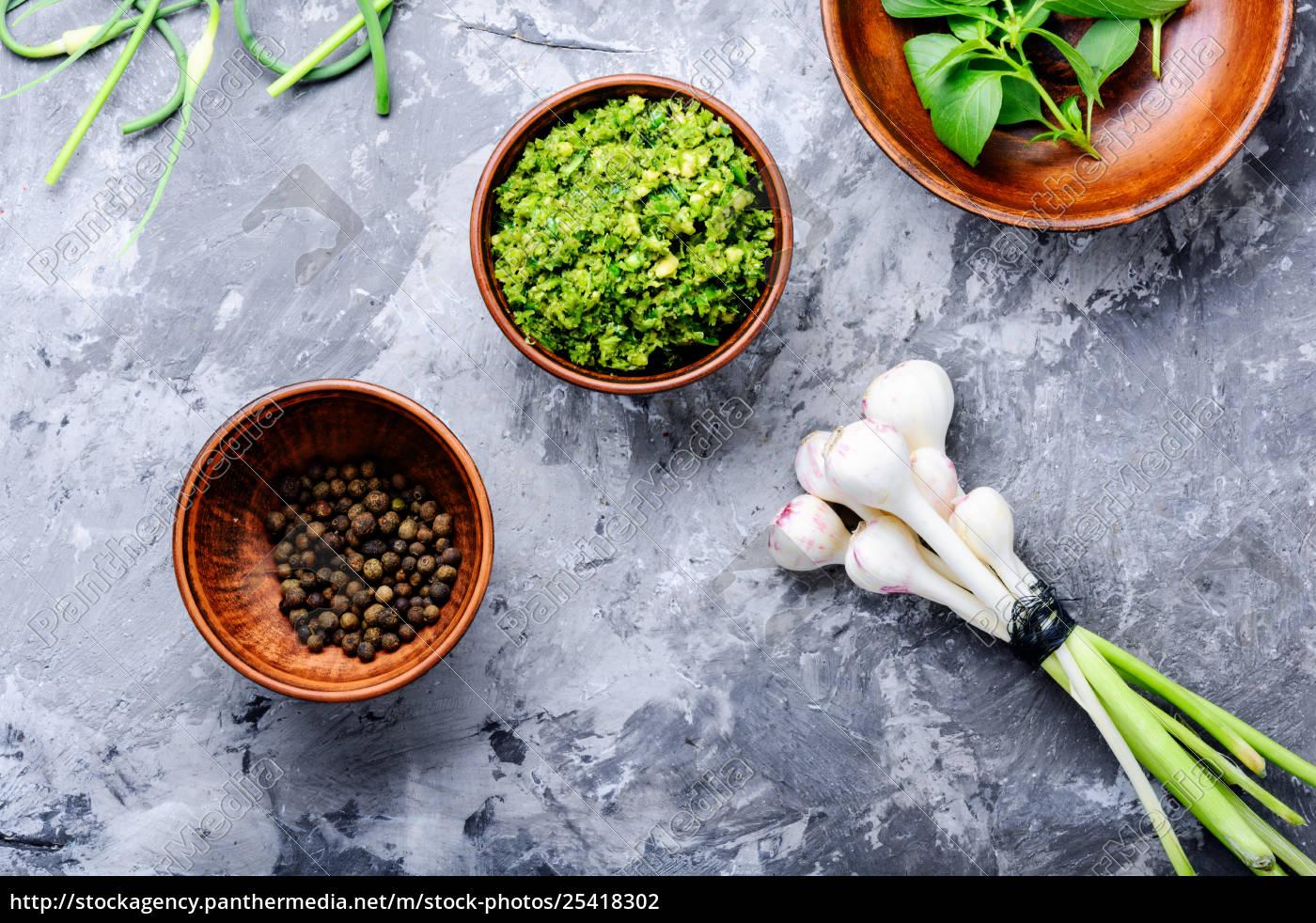 pesto, -, italian, cuisine, sauce - 25418302