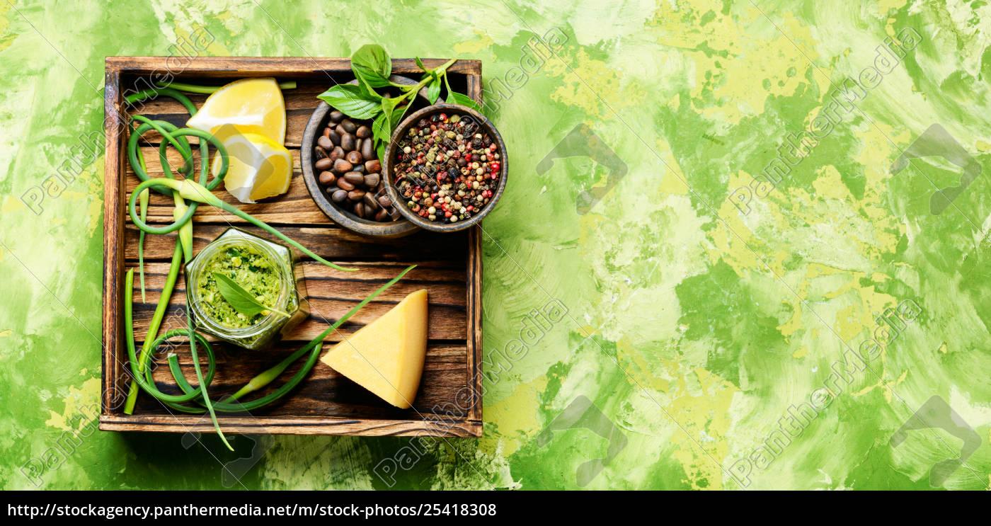 pesto, -, italian, cuisine, sauce - 25418308
