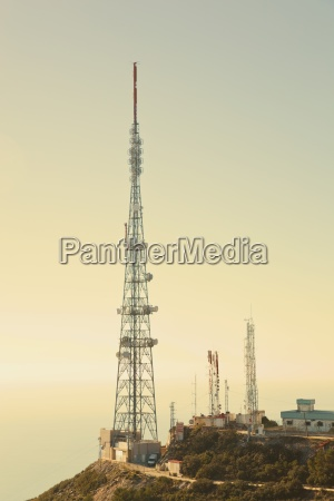 communication masts mijas malaga spain